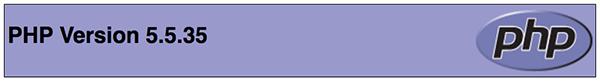 versione PHP installata sul server