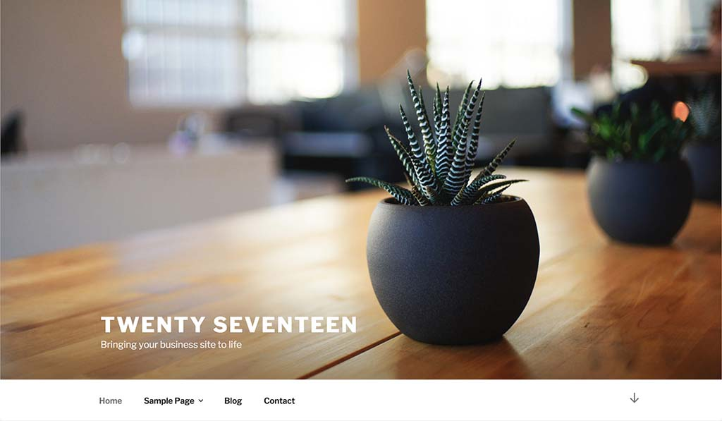Tema Twenty Seventeen con WordPress 4.7